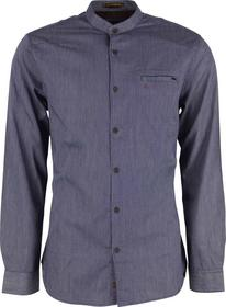 Special Washed Stripe Shirt With  Mandarin Collar