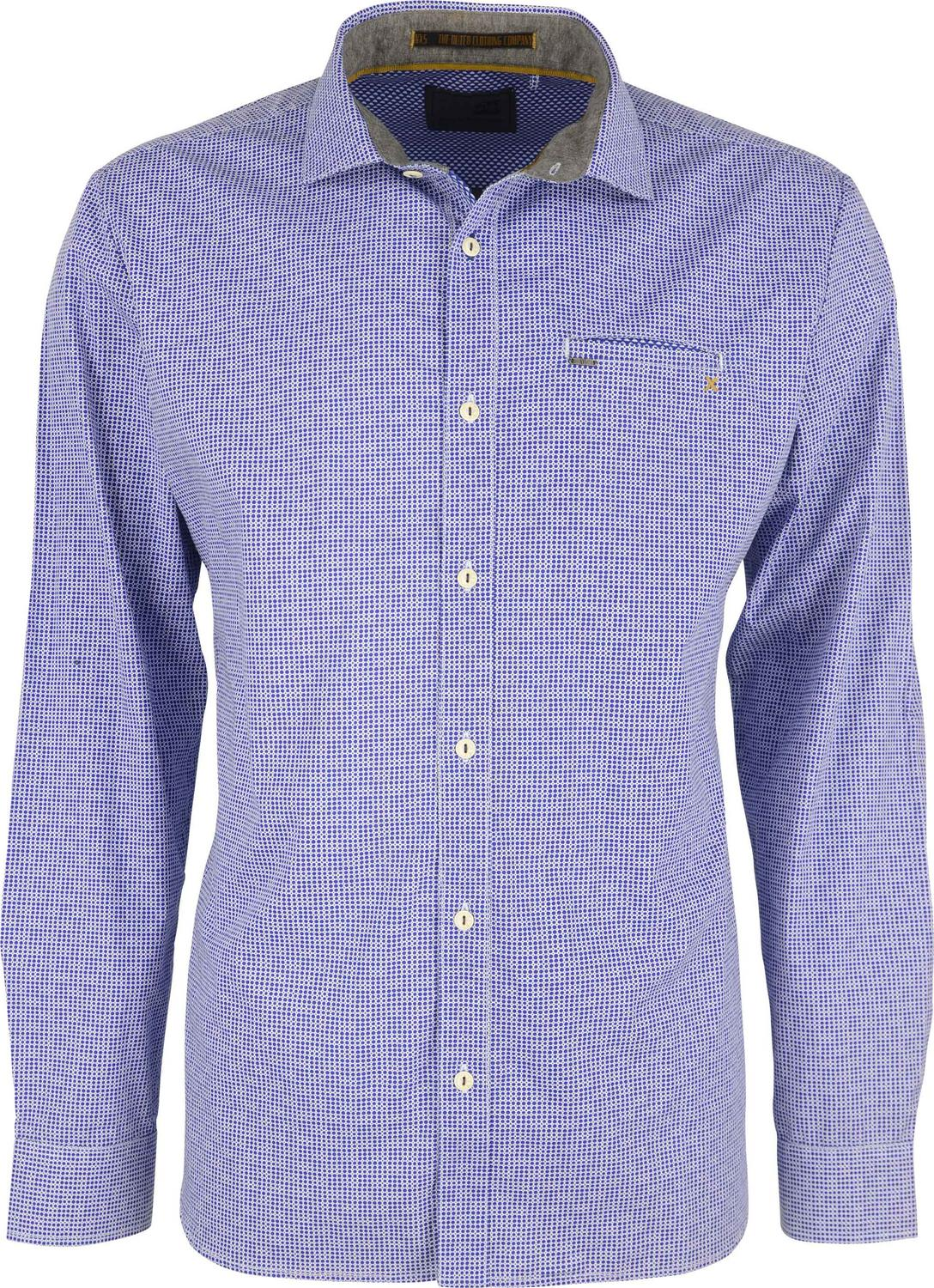 Mini Printed Stretch Shirt With Chest Pocket