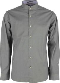 Mini Printed Stretch Shirt With Mandarin Collar