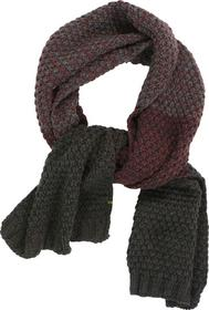 Scarf, twisted, block stripe degrade jacquard