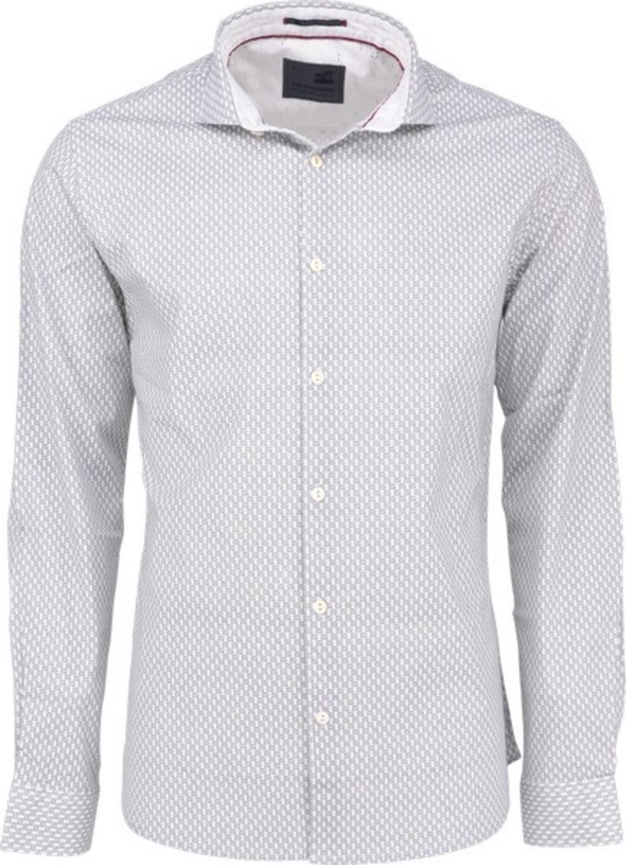 Shirt, l/sl, ao printed stretch