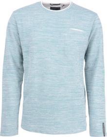 Sweater, R-Neck, yarn dyed looper stretch