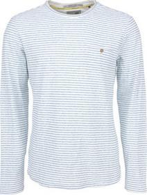 T-Shirt l/sl, R-Neck, yd stripe with linen