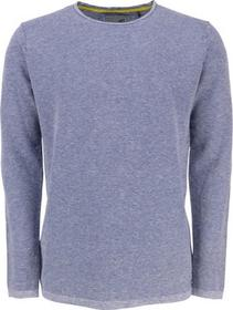 Pullover, R-Neck, 2 col jacquard, with linen