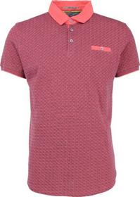 T-Shirt s/sl, Polo, yarn dyed jacquard