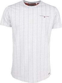 T-Shirt s/sl, R-neck, stripe jacquard