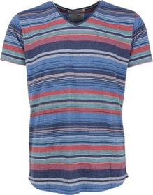 T-shirt s/sl, V-Neck, multicol yd irr.stripe