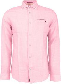 Shirt, l/sl, cotton linen, yarn dyed stripe