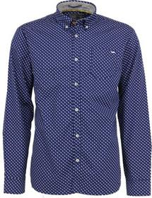 Shirt, l/sl, allover printed, stretch