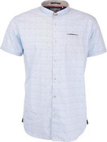Shirt, s/sl, allover printed, stret