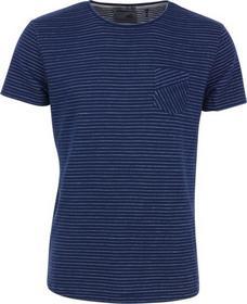 T-Shirt s/sl, R-neck, jacquard stripes