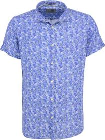 Shirt, s/sl, allover printed flowers, rayon