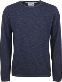 Pullover R-neck, Cold dyed slub, fl