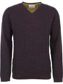 Pullover V-neck rolli, 2 col twiste
