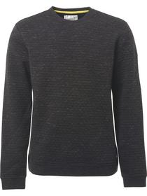 Sweater, R-Neck, quilted dbl jacqua