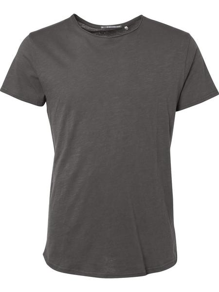 T-Shirt s/sl, R-neck rolli, slub je