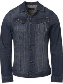 Jacket, dark denim with stretch