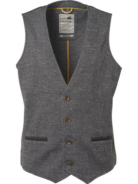 Gilet, yarn dyed grindle knitted, d