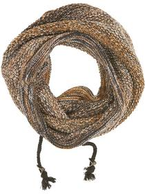 Scarf, tube knit, cord, degrade twi