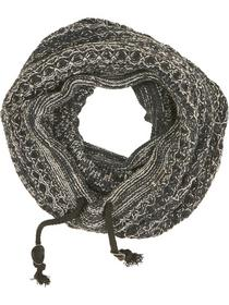Scarf, tube knit, cord, multi col j