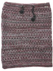 Scarf, tube knit, cord, multi col j