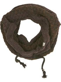 Scarf, tube knit, cord, plated bloc