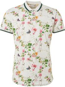 Polo, S/Sl, Melange jersey, Digital