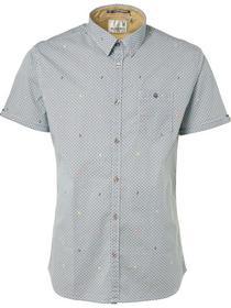 Shirt, s/sl, ao mini print, stretch