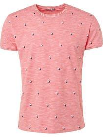 T-shirt s/sl, R-Neck, slub, AO Print+yd stripe
