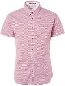 Shirt, s/sl, all over cube print, s