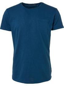 T-shirt s/sl, R-Neck, garm.dyed slub jersey