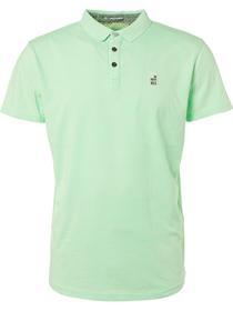 Polo, S/Sl, garm.dyed slub jersey