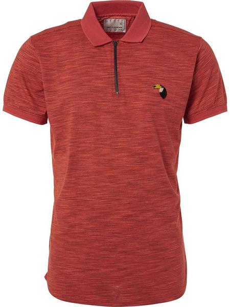 Polo, S/Sl, half zip, grindle yar