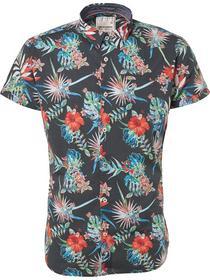 Shirt, s/sl, Digital allover printed