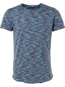 T-shirt s/sl, R-Neck, multi col space dyed melange