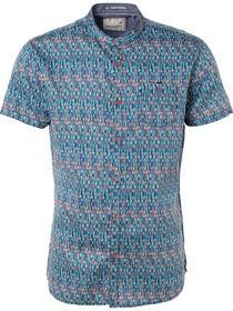 Shirt, s/sl, Digital allover printed, satin weave