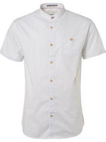 Shirt, s/sl, yd stripe, stretch, chest pocket
