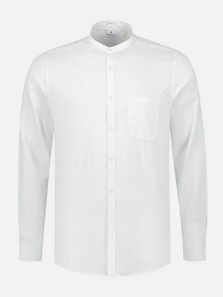 Mao Shirt Micro Stripe Jaquard