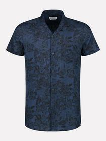 Resort shirt s/s Camo Leaves Voile
