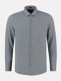 Shirt cut away collar Melange Pique