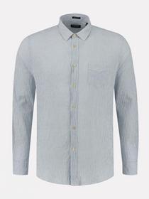 Shirt regular collar Lt. Seersucker Stripe
