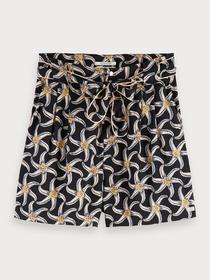 Printed viscose shorts