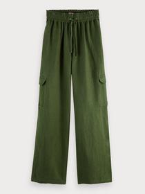 Cargo pants in linen blend