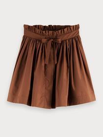 Voluminous cotton mini skirt