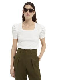 Puffy short sleeve tee with square
