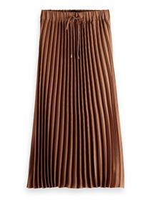 Pleated midi-length skirt