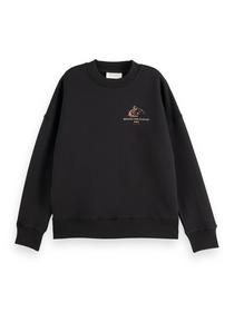 Oversized crewneck sweat with graph