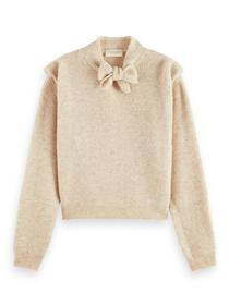 Melange knitted alpaca wool-blend p