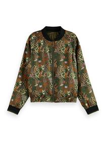 Reversible all over printed bomber