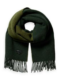 Two tone woven wool scarf